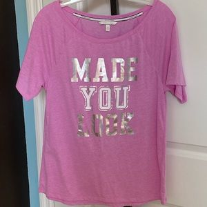 Victoria's Secret XS Pink Made You Look T-shirt